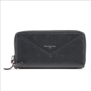 Balenciaga Black Leather Wallet